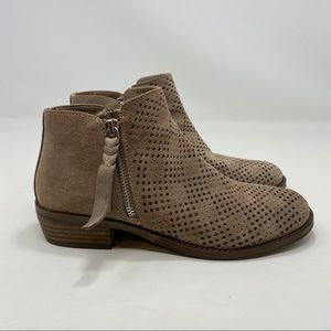 Dolce Vita Women's Tan Ankle Leather  Boots Size 6